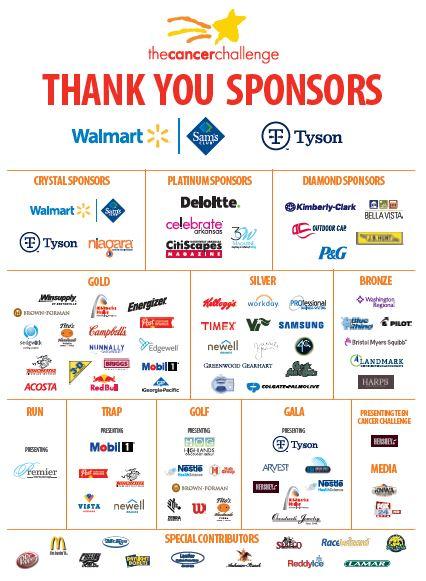 Cancer Challenge Sponsors